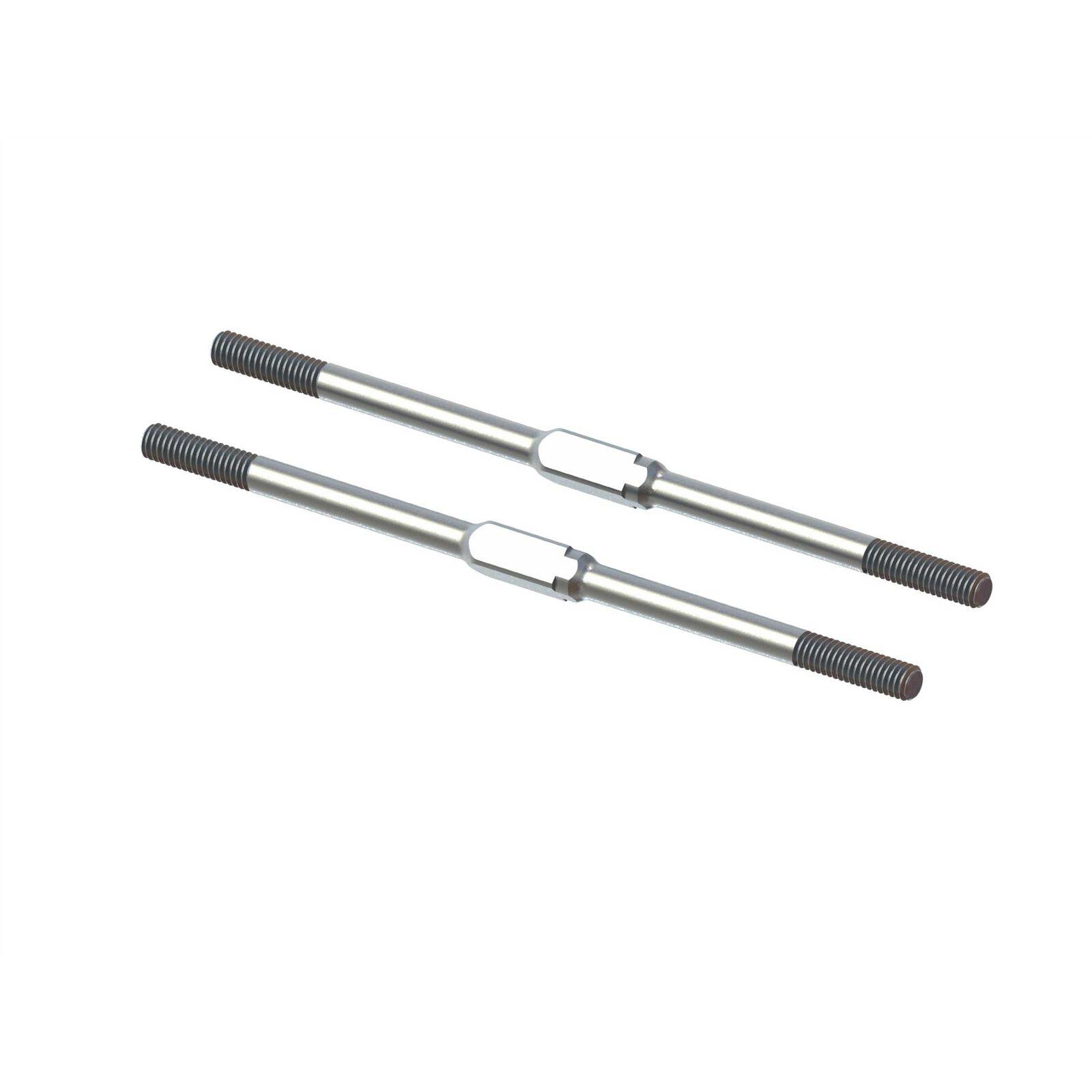Steel Turnbuckle, M4x95mm Silver (2): EXB
