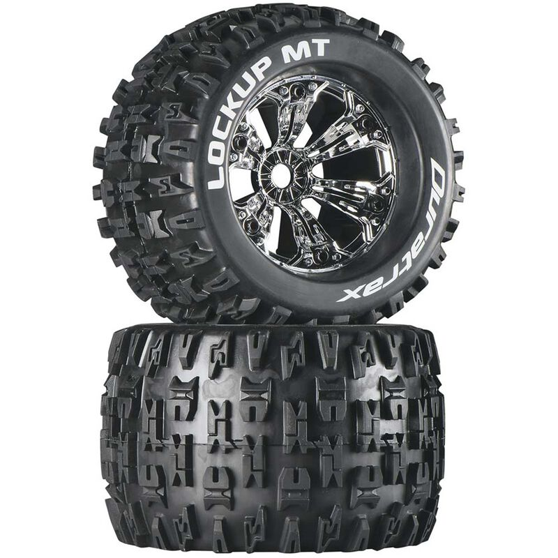 "Lockup MT 3.8"" Mounted 1/2"" Offset Tires, Chrome (2)"