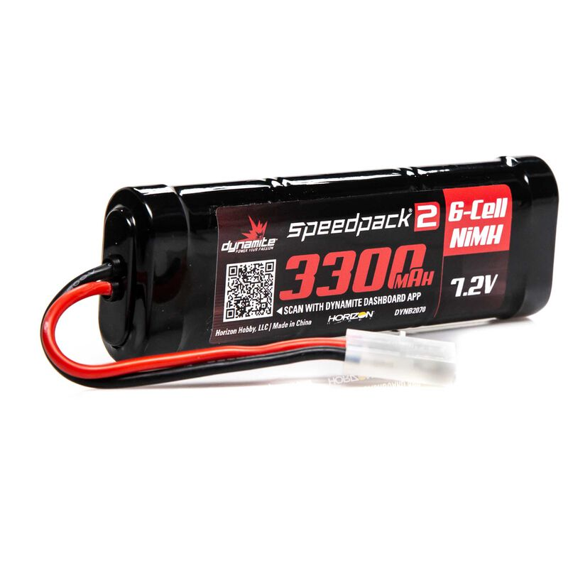 Speedpack2 7.2V 3300mAh 6C NiMH, Flat Tamiya