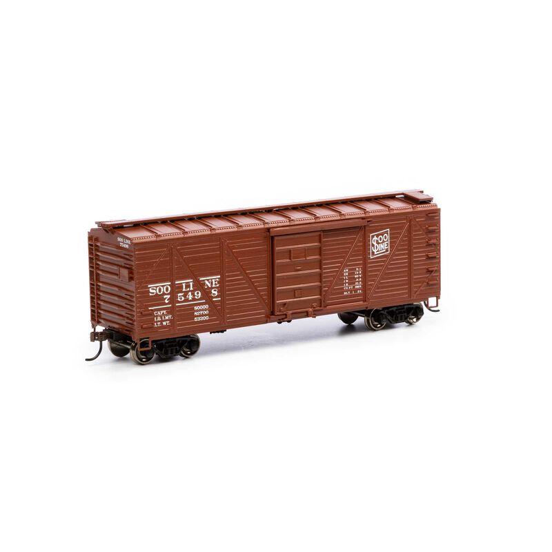 HO 40' Ribbed Wooden Box SOO #75498