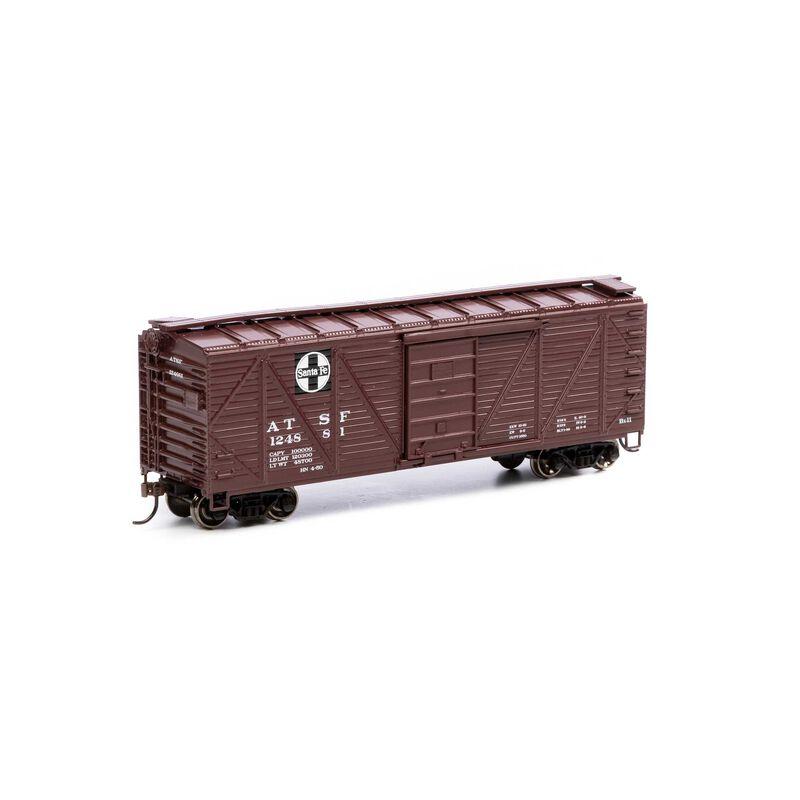 HO 40' Ribbed Wooden Box SF #124881