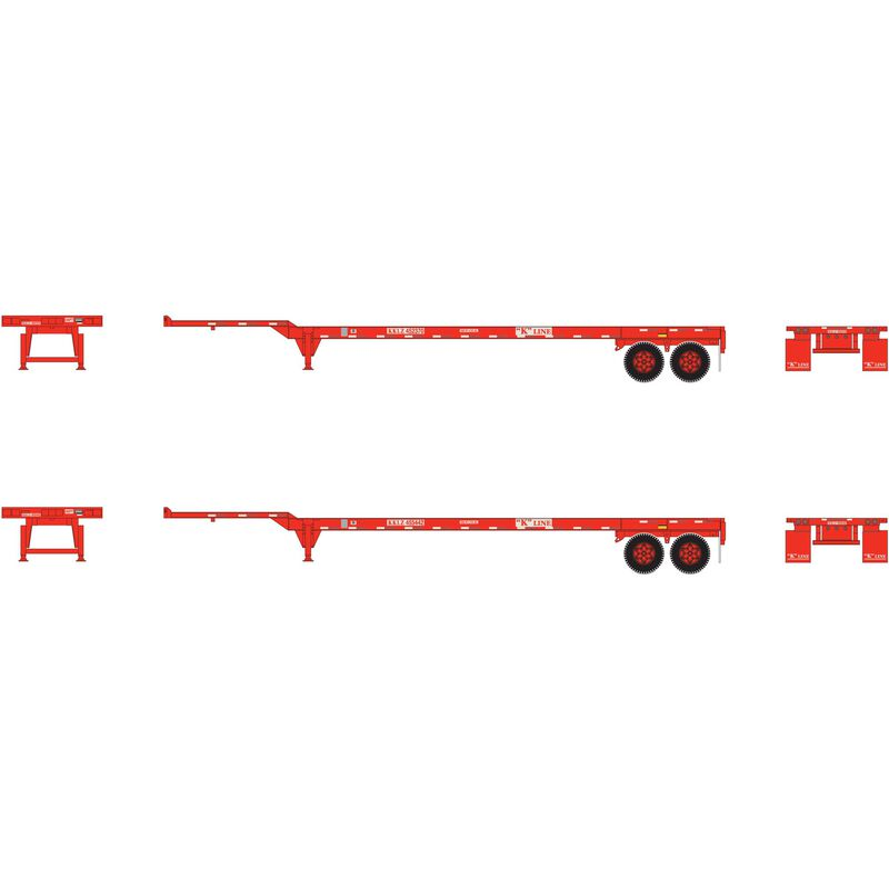 HO RTR 45' Container Chassis K-Line (2)
