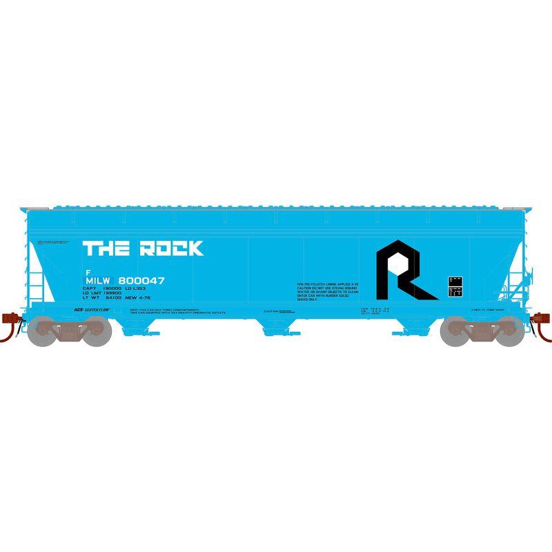 N ACF 4600 3-Bay CF Hopper, MILW/Ex-Rock #800047