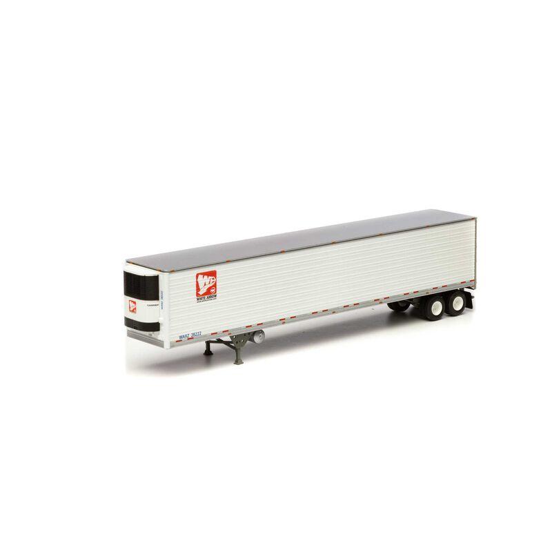 HO RTR 53' Utility Reefer Trailer White Arrow#28222
