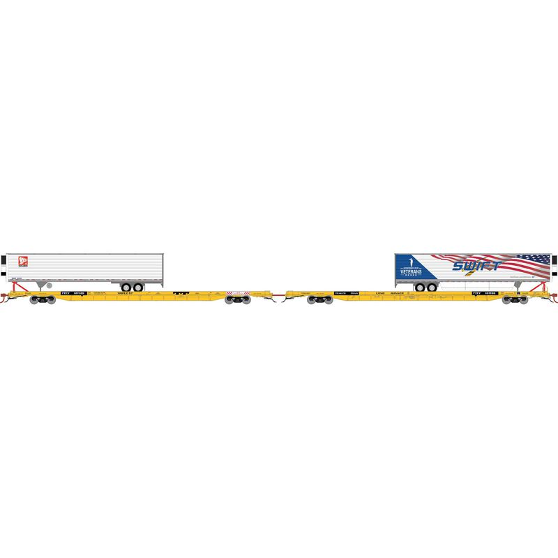 "HO F89-F89'8"" Flat/53' Trailer, TTEX/Long Runner #4"