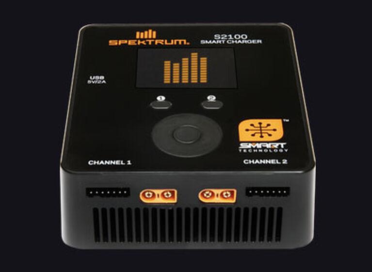 Spektrum S2100 Smart Charger on black Glamor Shot