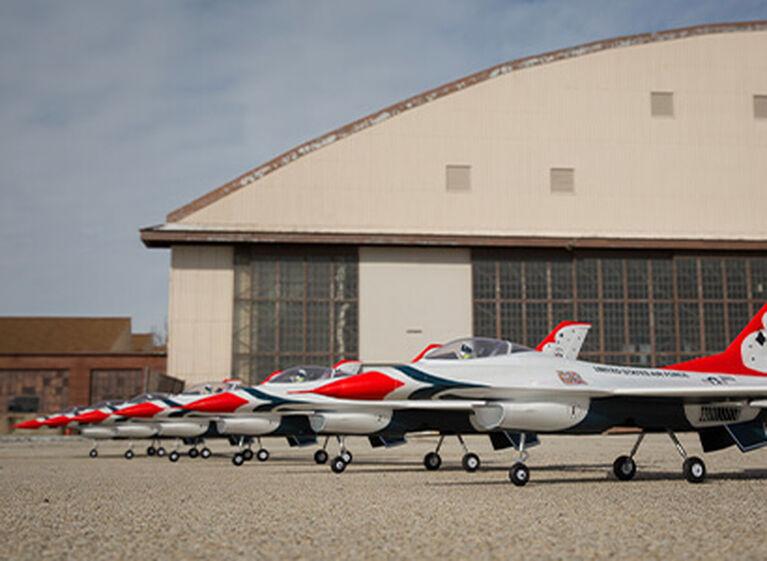 E-flite F-16 Thunderbird 70mm EDF Glamour Shot