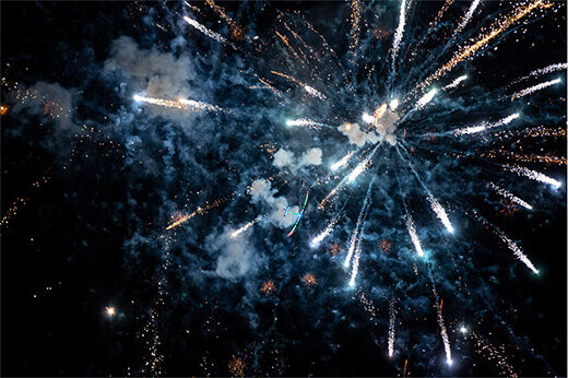 Closing fireworks at RC Fest 2019.
