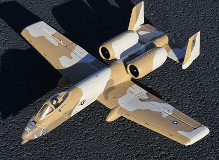 E-flite UMX A-10 Thunderbolt II 30mm EDF Jet in flight glamour image
