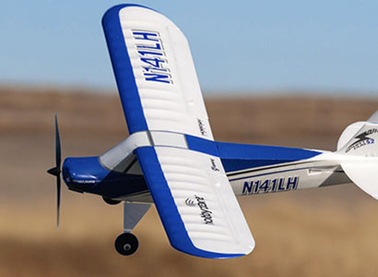 RC Trainer Airplane HobbyZone Sport Cub S 2 in flight glamour shot