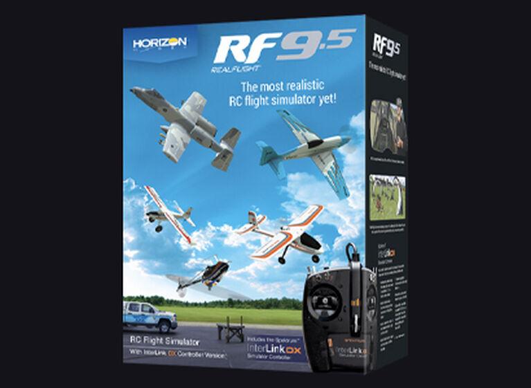 RealFlight 9.5 RC Flight Simulator with Spektrum InterLink DX Controller