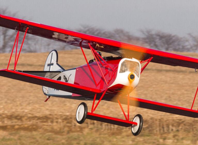 "Fokker D.VII 30-60cc ARF, 87"" Balsa RC Warbird Airplane"