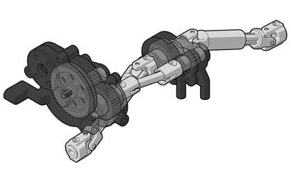 Forward-mounted Motor and Divorced Transfer Case