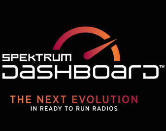 Spektrum Dashboard Logo. The next evolution in Ready-to-Run radios.