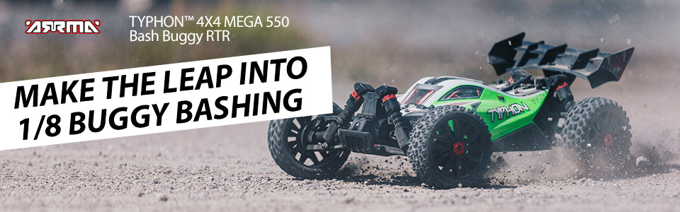 1/8 TYPHON™ 4X4 MEGA 550 Speed Buggy RTR