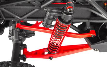 Adjustable Coilover Shocks & Three-Linked Rear Suspension