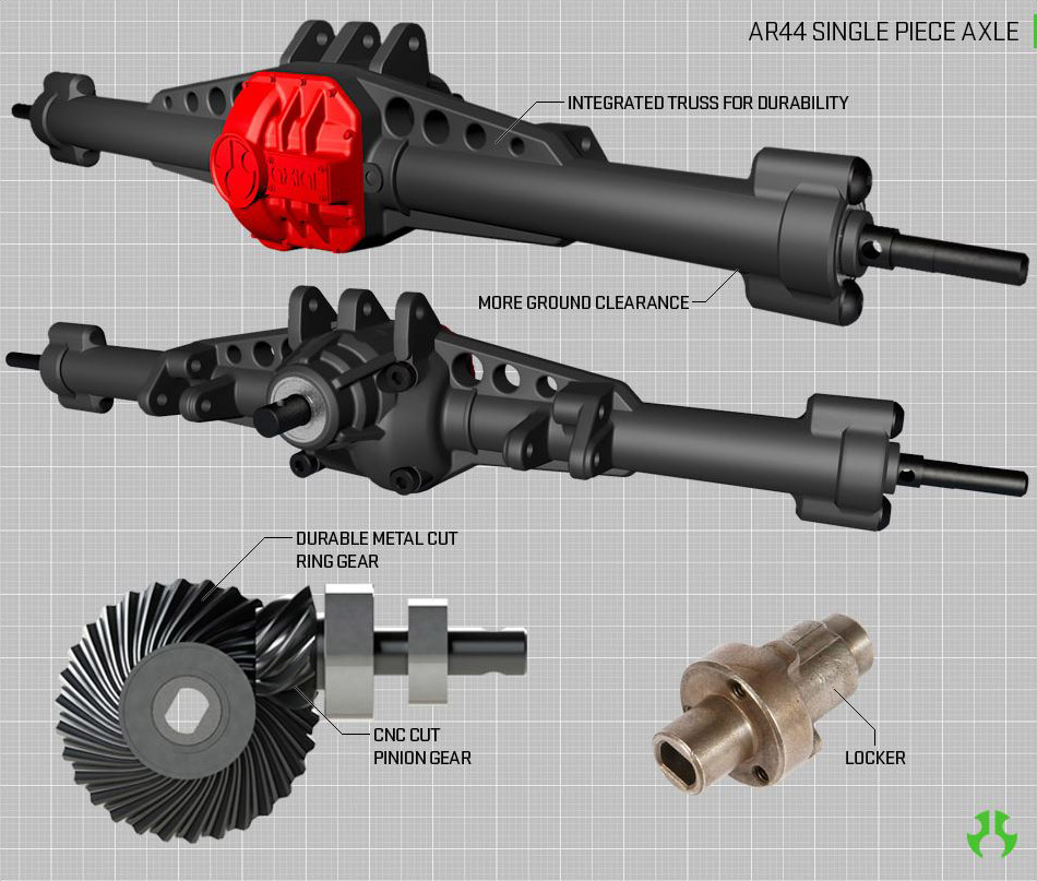 AR44 Single Piece Axle