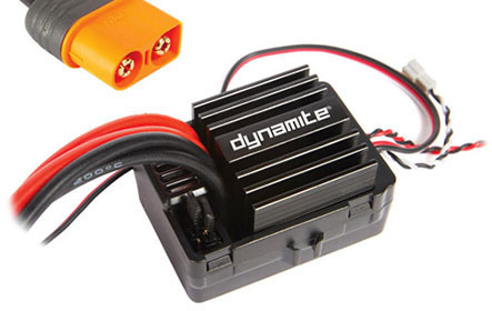 DYNAMITE<sup>®</sup> AE-5L ESC W/ DRAG BRAKE, WATERPROOF