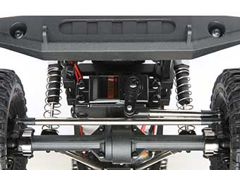 Axle mounted steering servo