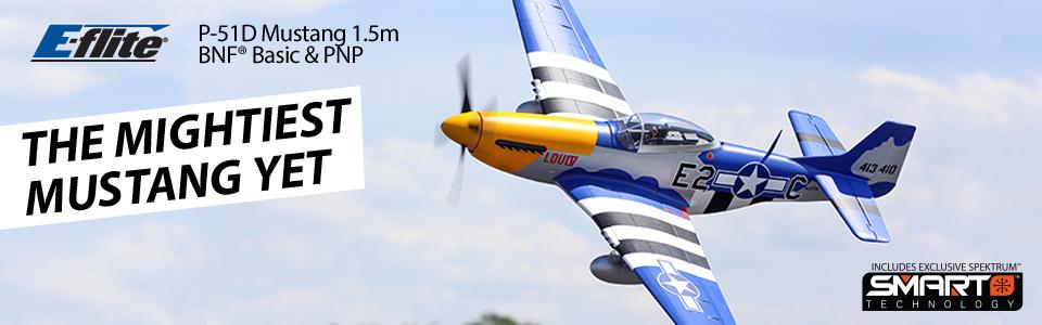 E-flite P-51D Mustang 1.5m BNF Basic