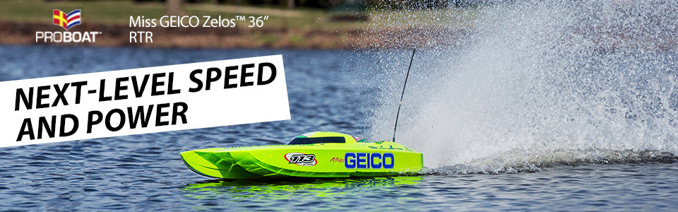 Miss GEICO Zelos 36 Twin Brushless Catamaran