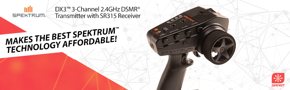 DX3 3-Channel 2.4GHz DSMR Radio System