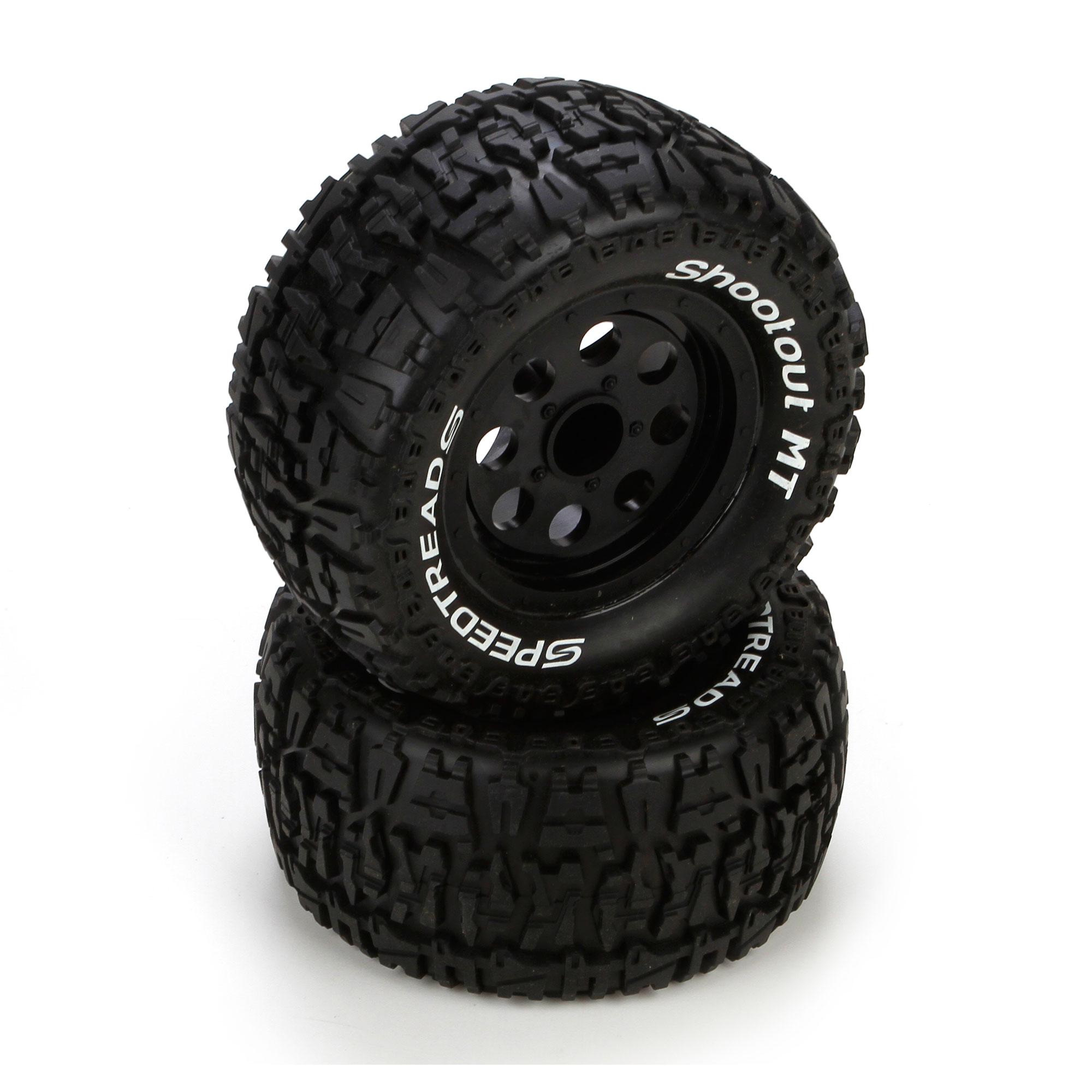 ECX40005 ECX Front//Rear Premount Tyre 1//24 4WD Temper