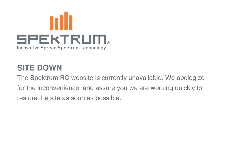 Spektrum RC Website is currently unavailable.