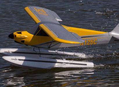 HobbyZone Carbon Cub S 2 1.3m in flight glamour shot