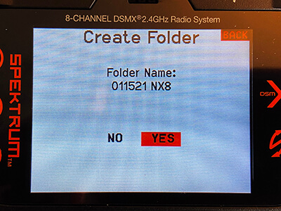 Label the folder with todays date and the name of                                   the radio I am exporting from.