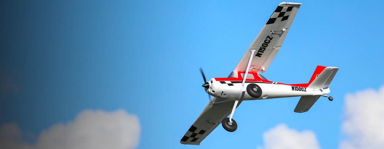 RC Airplane Carbon-Z Cessna 150T in flight glamour shot