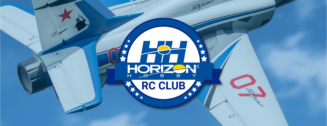 Horizon RC Club Heading image. Logo over a plane.