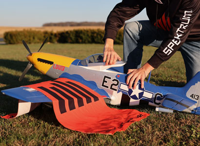 P-51D Mustang 1.5m product shot 6S compatible airplanes