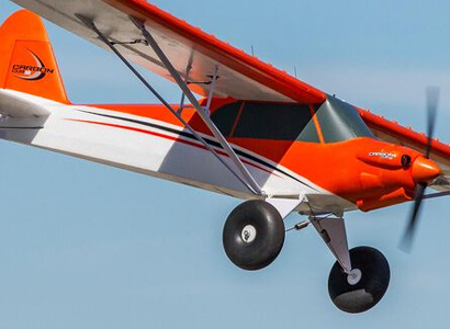 RC Airplane Carbon-Z Cub SS in flight glamour shot