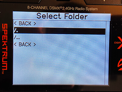 Select the new folder.