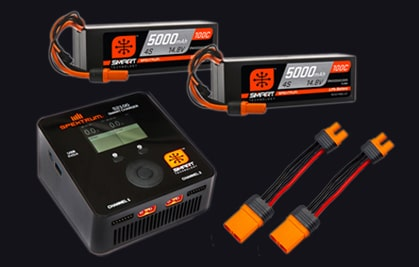 Spektrum Smart Powerstage bundle RC LiPo Battery and Charger