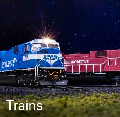 Athearn trains on a scale railroad
