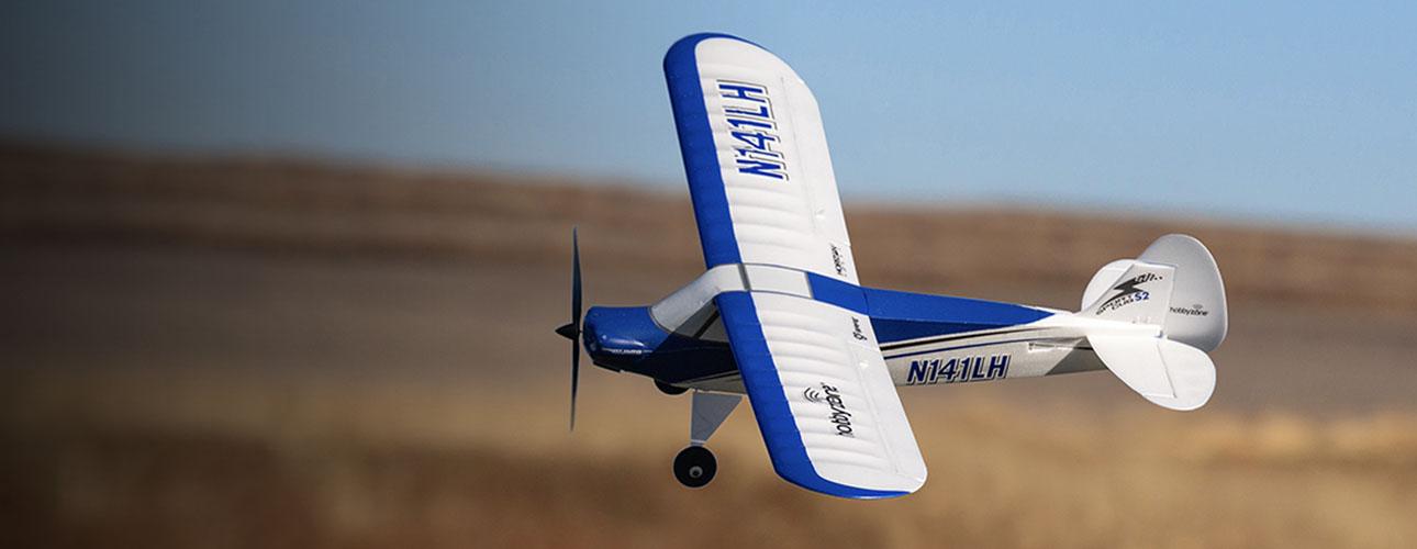 RC Trainer Airplane HobbyZone Sport Cub S 2 in flight glamour shot